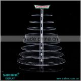 Wholesale Best-selling 5 Tiers Acrylic Wedding Cake Stand With Lighted                                                                         Quality Choice