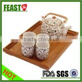 2015 New design square bamboo wood serving tray