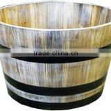 Large Outdoor Barrel Planter