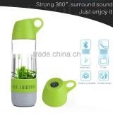 portable sport water bottle with bluetooth speaker and compass
