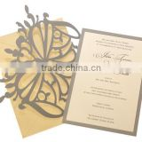 2016 newmengxing Elegant Butterfly Wedding Invitations, golden yellow, gold, charcoal gray, shimmer/pearl paper