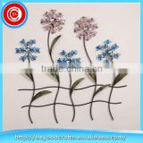 Beautiful Metal Flower Scene Wall Art with Acrylic Bead