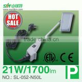 led arm light,clamp enclosure on photo booth shell,used in trade exhibition stand