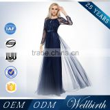 2015 New A-Line Sequins Beaded Elegant Long Sleeve Evening Dresses                                                                         Quality Choice