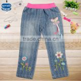 (G3725)NOVA blue 2-6Y baby girl jeans pants new style kids fashion pants children cotton trousers