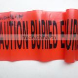 Custom Printed PE Hazard Warning Tape Plastic Barricade Tapes HDPE Warning Tape