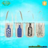 fashion single bottle canvas cotton wine bags                                                                         Quality Choice