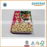 Popularity promotional colorful customer design notebook, embroidery cartoon picture notebook