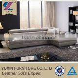 high quality modern leather pearly-lustre leather sofa