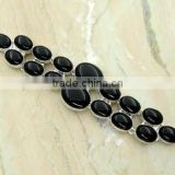 Beautiful Black Onyx ! Silver Bracelet &.925 Sterling Silver Jewelry Bracelet Wholesale Jewelry