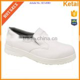 PU outsole white smooth leather upper with anti-perforation function for kitchen safety shoes