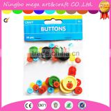 4 Holes Mixed Colors Wooden Buttons Fit DIY Sewing Crafts Decoration