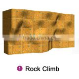 Used indoor artificial rock climbing wall