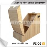 wooden half body far infrared sauna box and ozone steam sauna for sale