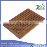 Hot sale healthy Rectangular Bamboo Bath Shower Mat                                                                         Quality Choice