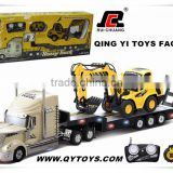 New arrival! 1:32 6 channel rc toy tow truck for sale with rc excavator toy
