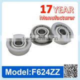 F624 ZZ RS Miniature Flange Ball Bearing Deep Groove Ball Bearing