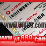 Paper label Material and Adhesive Sticker Type barcode stickers roll