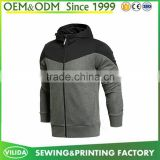 Custom plain zip up black man neoprene jacket casual varsity jacket