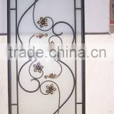 wrought iron glass for windows and doors with spacer bar