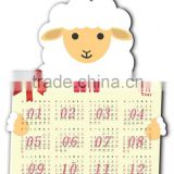Advertising PVC company logo magnetic calendar for refrigerator promotional magnetic yearly calendar