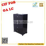 Hot sell popular design European style high gloss black wooden 5 drawers Chest