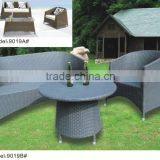 Rattan wicker sofa set with loveseat armchairs and coffee table
