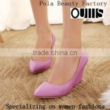 Stylish Women's Pointed Toe Wedge Pumps fashion new design wedge heel lady pump sandals PC3742