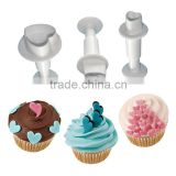 Heart Shaped 3pcs/set Cookie Cutter Fondant Decorating Mold Sugarcraft Cutter Press Mold