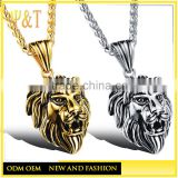 Best seller punk style vintage lion head pendants, lion statues pendants for sale (QD-102)