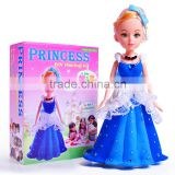 2016 Fashion Girls Gift Princess Dresser Air Dry Clay Craft/Cinderella