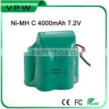 4000mAh Ni-MH 7.2V rechargeable Battery Pack for Christmas Light