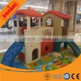 Children indoor plastic playhouse with slide for kids fun