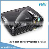 Top Quality ! 4500 lumens DLP 3D Projector with HDMI VGA AV 100 Inches image at 1.36m Classroom short throw 3d led dlp projector