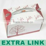 Customized take away paper cake box with handle;cheap cake boxes,cake boxes,cake box design