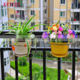 XY1101 Metal hanging flower pot balcony tub Pot Hook Hanging Buckets window box wall hanging planter