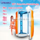 2016 factory vertical comercial solarium Tanning machine & CE certificate with 48pcs UV lamp