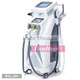 2016 Best professional IPL machine for hair removal IPL Nd Yag laser tattoo remover RF IPL skin rejuvenation beauty machine
