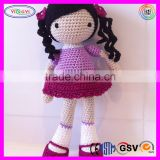 A797 Handmade Girl Doll 2016 High Quality Fashion 30cm Crochet Doll