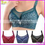 Hot Sexy Women Brassiere Big Size Red Black Blue Underwear Super Push Up Intimates Bras Lace Tops lingerie C D Cup