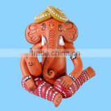 Terracotta Ganesh Gifts With Mouse Murti Wholeasale