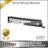 90W high power curved light bar spot flood combo marine boat motor sports 4x4 pick up truck trailer lamp