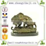 2015 chinese factory custom made handmade carved hot new products resin marble lion statue