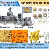 Jinan Eagle cereals corn rice puff snacks food types cheese ball sticks and cheetos twin screw extruder machine