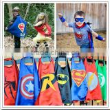 2016 best selling popular kids superhero capes and masks from China Hebei