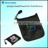wholesale promotion gift Small Polyester Pouch earphone cable and Jewelry Organizer pouch
