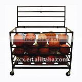 S6244 steel basket ball cage with casters