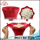 NBRSC Kitchen Foldable Silicone Microwave Popcorn Maker Container Cooking Tool