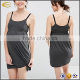 Ecoach 2016 Custom Logo/Label Scoop Neckline 95% Viscose 5% Elastane Women's Nursing Dress