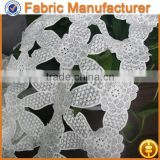 cicheng textile Micro Fiber Floral Embroidery Saree Border Chemical Lace Fabrics and Triming